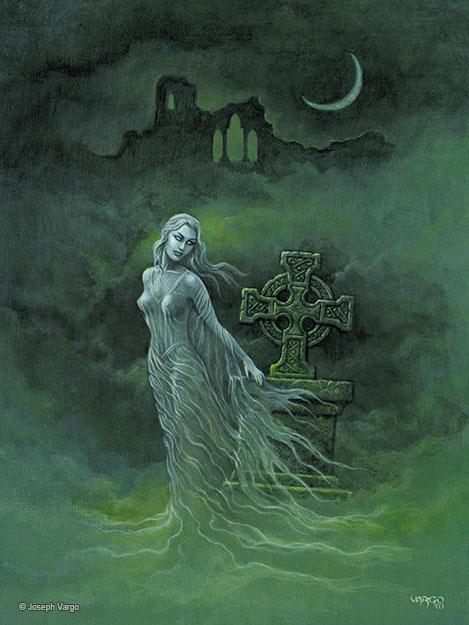 The spirit realm gothic fantasy artwork by joseph vargo for Hallowed ground tattoo
